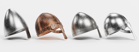Realistic 3d Render of Viking Helmets