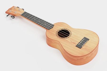 Realistic 3D Render of Ukulele