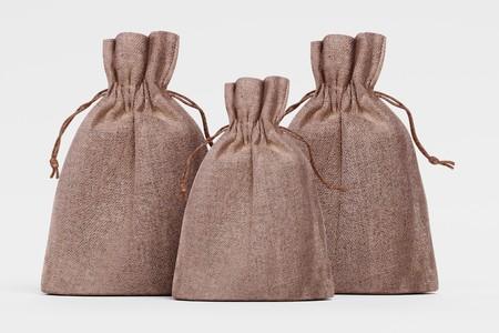 Realistic 3D Render of Jute Bags Stok Fotoğraf