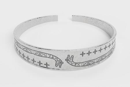 Realistic 3D Render of Viking Bracelet Stock Photo