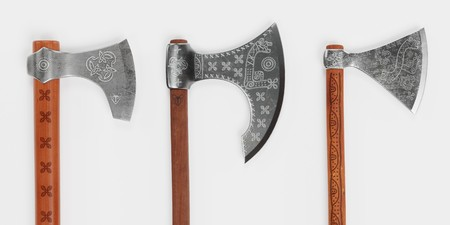 Realistic 3D Render of Viking Axes