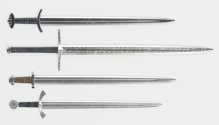 Realistic 3d Render of Viking Swords