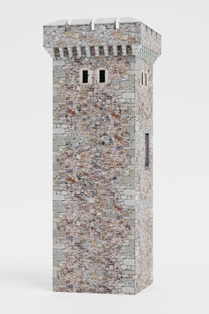 Realistic 3D Render of Medieval Tower Banco de Imagens