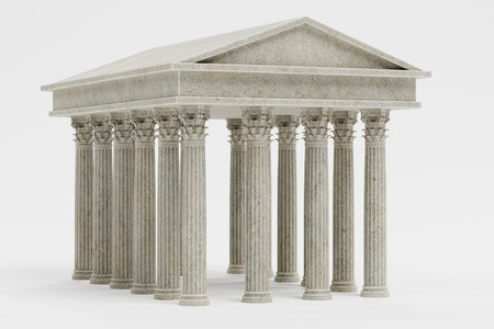 Realistic 3d Render of Corinthian Temple Stock Photo