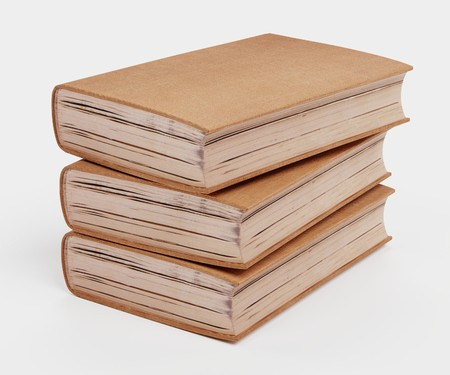 Realistic 3D Render of Blank Books