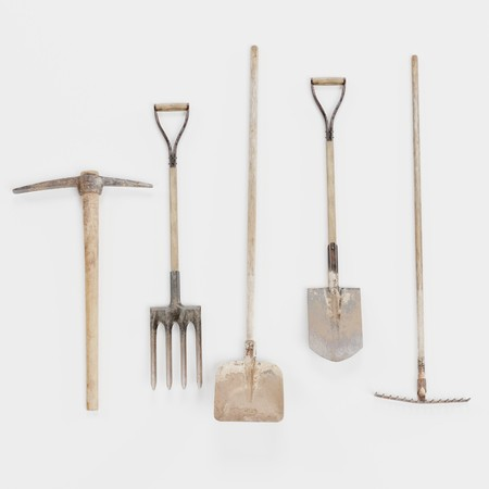 Realistic 3D Render of Garden Tools
