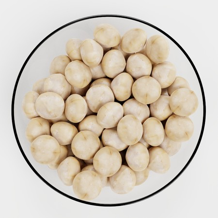 Realistic 3D Render of Macadamia Nuts Stock Photo