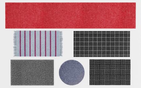 Realistic 3d Render of Rugs Sets