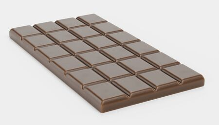 Realistic 3D Render of Chocolate Bar Stock Photo