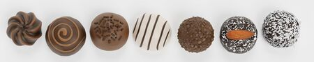 Realistic 3D Render of Chocolate Candies Reklamní fotografie