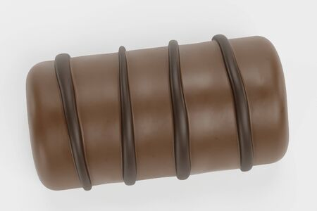 Realistic 3D Render of Chocolate Candy Stock Photo