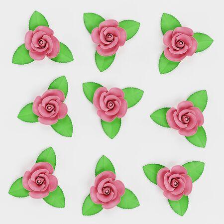 Realistic 3D Render of Marzipan Rosees Reklamní fotografie