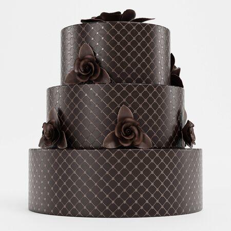 Realistic 3d Render of Wedding Cake Reklamní fotografie