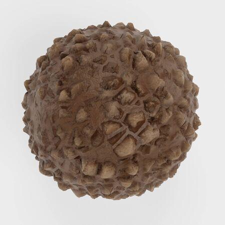 Realistic 3D Render of Chocolate Candy Reklamní fotografie