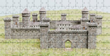 Realistic 3D Render of Puzzle