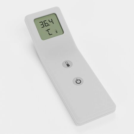 Realistic 3D Render of Thermometer