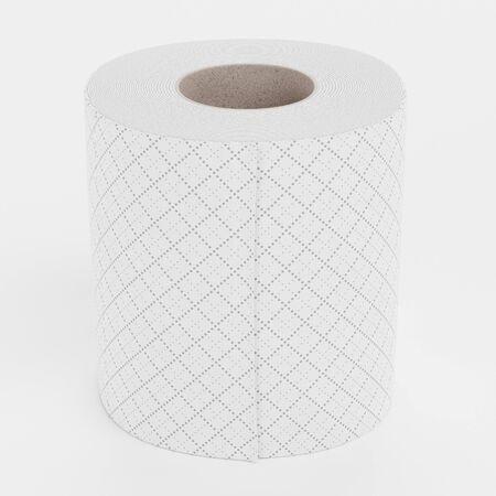 Realistic 3D Render of Toilet Paper Reklamní fotografie