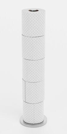 Realistic 3D Render of Toilet Papers Set Reklamní fotografie