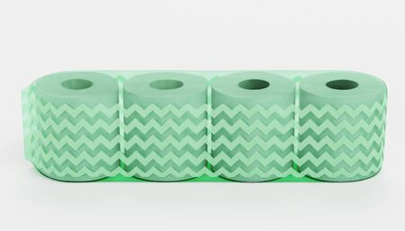 Realistic 3D Render of Toilet Papers Pack