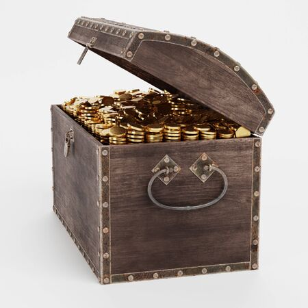 Realistic 3D Render of Treasure Chest