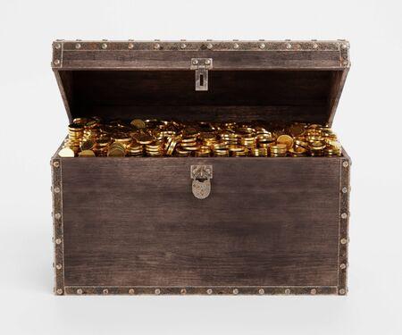 Realistic 3D Render of Treasure Chest Zdjęcie Seryjne