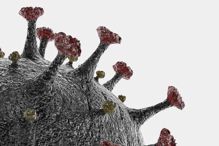 Realistic 3D render of Coronavirus Model Reklamní fotografie