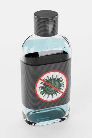 Realistic 3D Render of Hand Sanitizer Reklamní fotografie