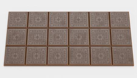 Realistic 3D Render of Chocolate Bar Reklamní fotografie