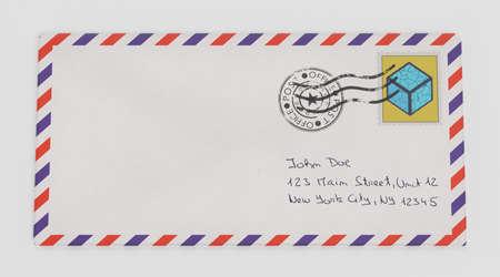 Realistic 3D Render of Paper Envelope Banco de Imagens