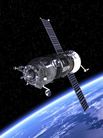 satellite: Spacecraft Orbiting Earth