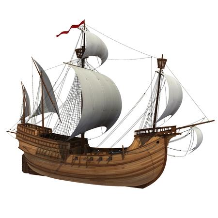 caravelle: Caravel scène 3D Banque d'images