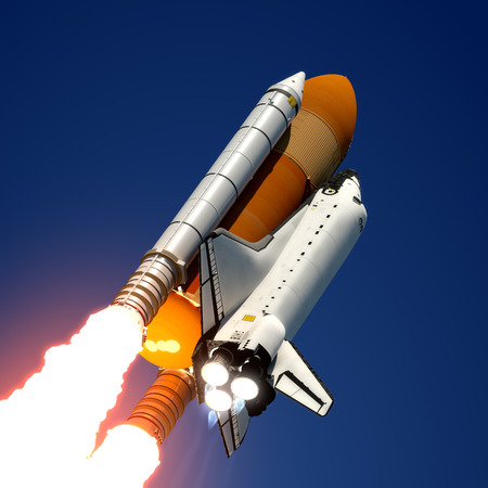 Space Shuttle Launch  3D Scene  photo