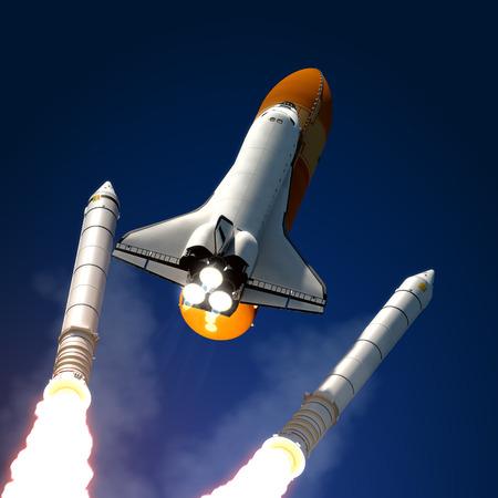 Solid Rocket Buster Vrijstaand 3D Scene Stockfoto
