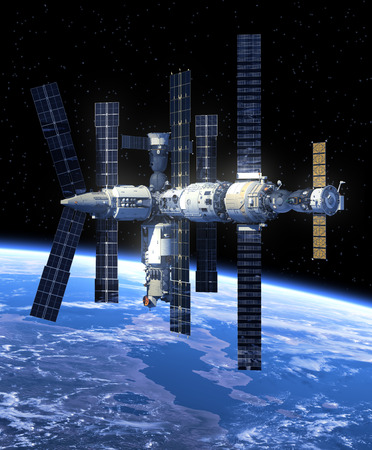 Space Station  3D Scene  photo