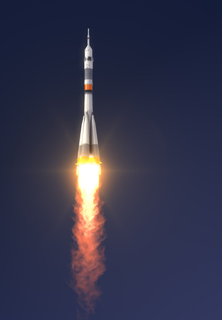Carrier rocket  Soyuz-FG  Launch  3D Scene