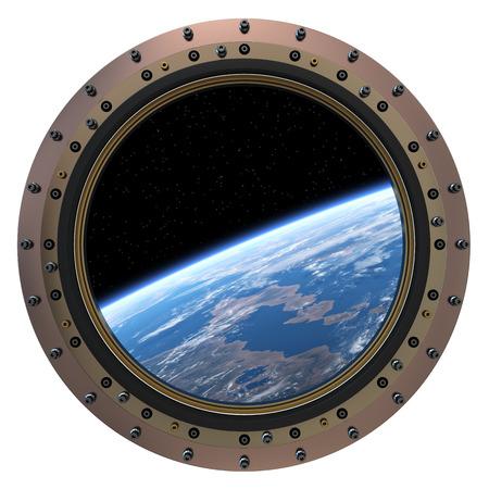 Space Station Porthole  3D Scene
