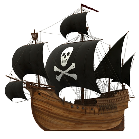 3d sail boat: Pirate Ship