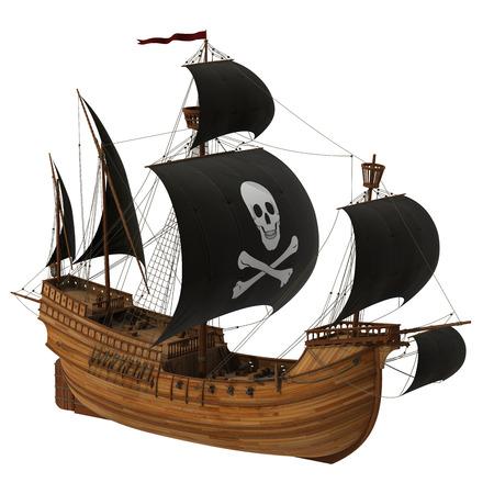 3d sail boat: Pirate Ship