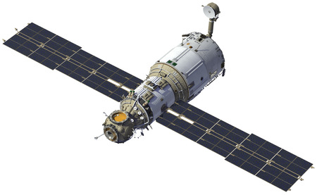 space station: International Space Station. Module Zvezda. 3D Model.