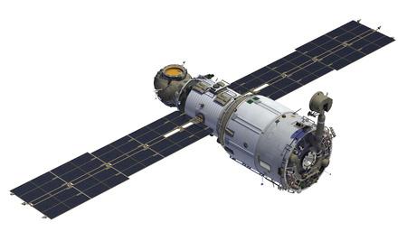 国際宇宙ステーション。モジュール「ズヴェズダ」。3 D モデル。