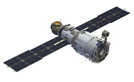 "International Space Station. Module ""Zvezda"". 3D-model."