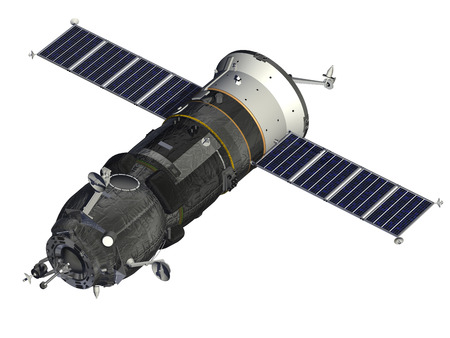 orbital station: Cargo Spacecraft Stock Photo