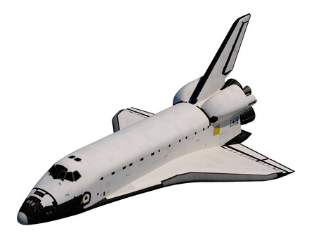 Realistic 3D Model Of Space Shuttle Orbiter.