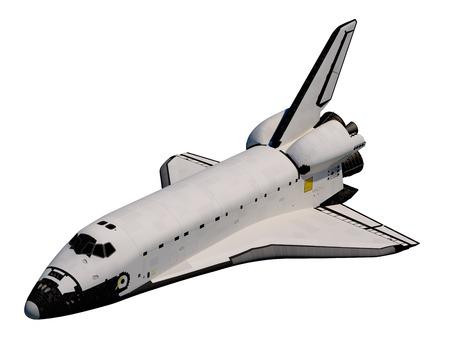 Realistische 3D-model van Space Shuttle Orbiter. Stockfoto