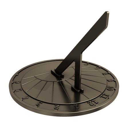 reloj de sol: Antiguo reloj de sol. Modelo 3D de metal viejo reloj de sol.