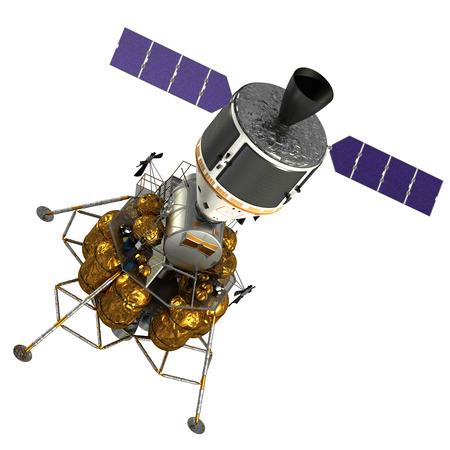 Crew Exploration Vehicle On White Background. 3D Model.