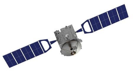 Satellite Over The White Background. 3D Model.