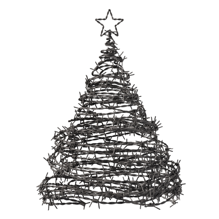 barbwire: Christmas Tree Made From Barbed Wire. 3D Model.
