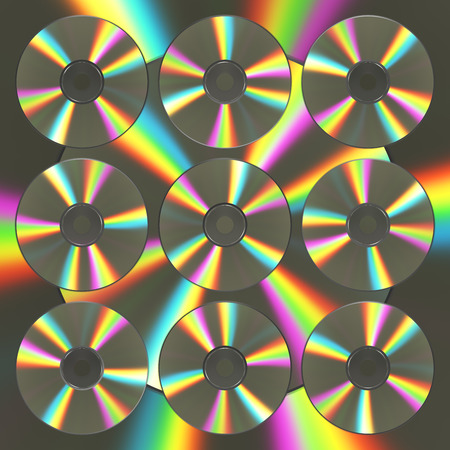 Background From CD And DVD Disks. 3D Illustration.