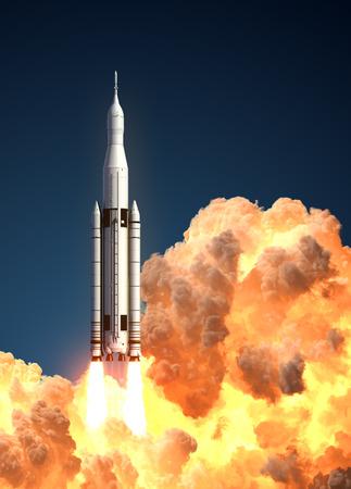 Space Launch System In De Wolken Van Brand